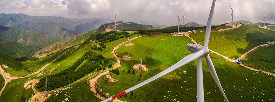 Windparkanlage in Shanxi, China.