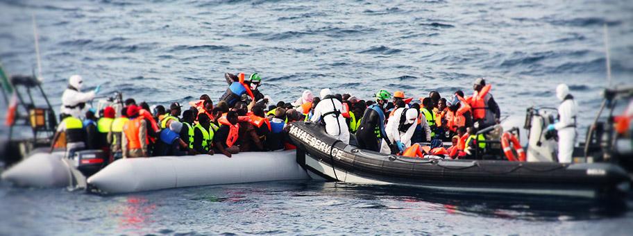 Seenotrettung im Mittelmeer, Juni 2015.
