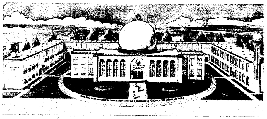 Image from the FBI monograph of the Nation of Islam (1965): An illustration of «An Educational Center».