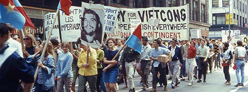 Antikriegsdemonstration in Chicago, August 1968.