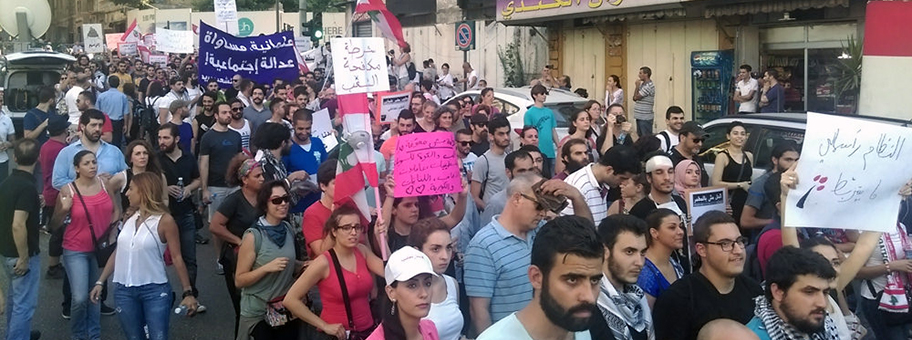 #YouStinkProtest in Beirut im August 2015.
