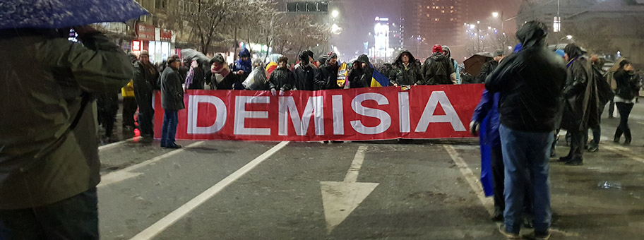 Demonstration gegen Korruption in Bukarest, Januar 2018.