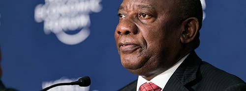 Cyril Ramaphosa am World Economic Forum in Kigali, Ruanda, Mai 2016.