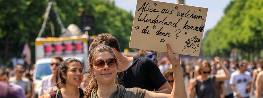 Demonstration gegen die AfD in Berlin, Mai 2018.