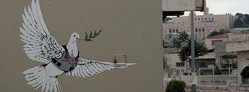StreetArt von Banksy in Bethlehem.