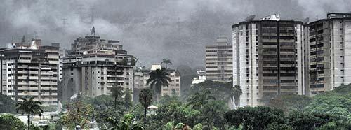 Regen in Caracas, Veuezuela.