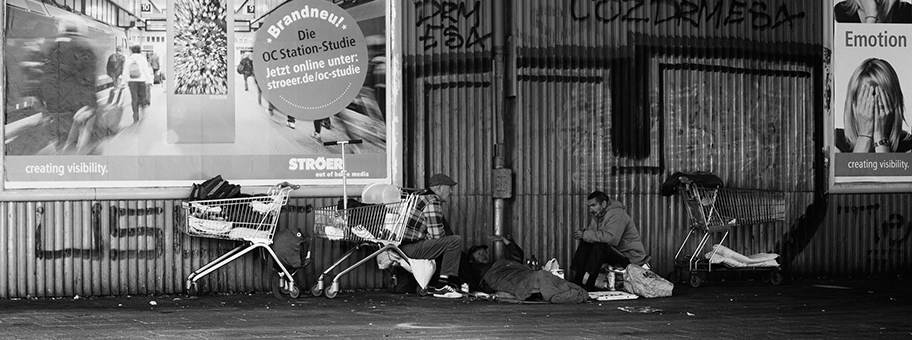 Obdachlose in Berlin.