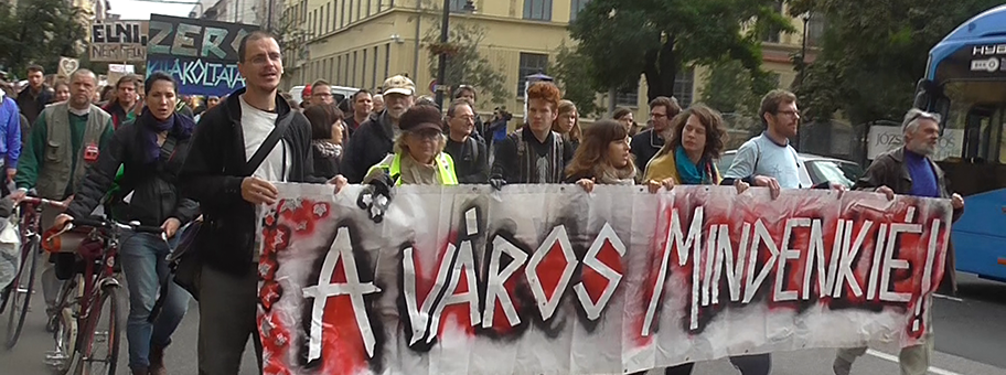Demonstration in Budapest der Bürgerinitiative AVM.