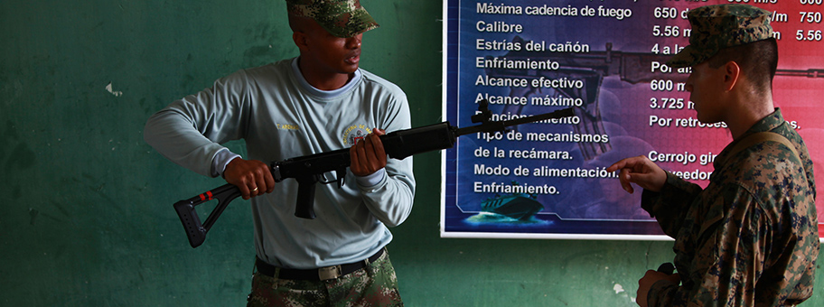 Colombian Marine Corps Training Base Covenas in Colombia, Aug. 13, 2010.