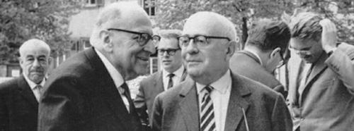 Max Horkheimer und Theodor W.