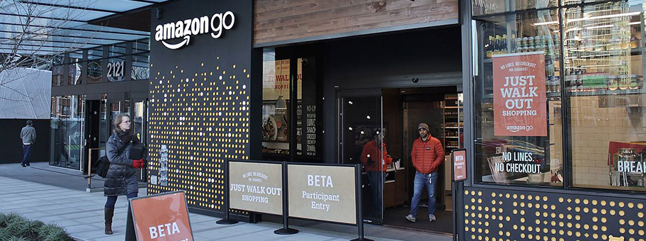 Amazon Go Shop in Seattle, USA.
