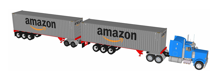 Amazon container truck.