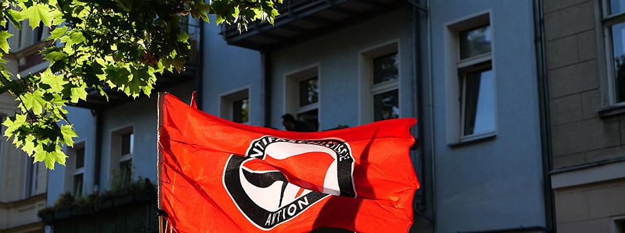 Antifa Demo in  BerlinWedding, Juli 2020.