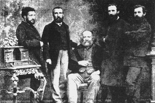 Gruppenfoto am IWA Kongress in Basel, 1869.