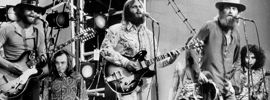 Die Beach Boys live im Central Park, Juli 1971.