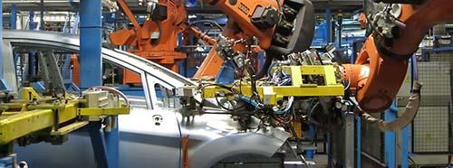 Automatisierung bei Ford in Köln, Juni 2013.