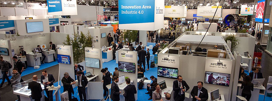 Die Bitkom Innovation Area Industrie  auf der Hannover Messe 2016.