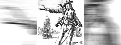 Die  legendäre Piratin Anne Bonny (16971720).