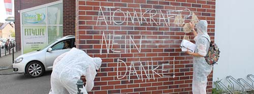 Aktionstag des Internationalen AntiAtomSommercamp in Döbeln.