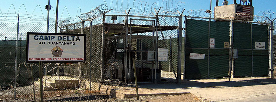Camp Delta in Guantanamo Bay auf Kuba.