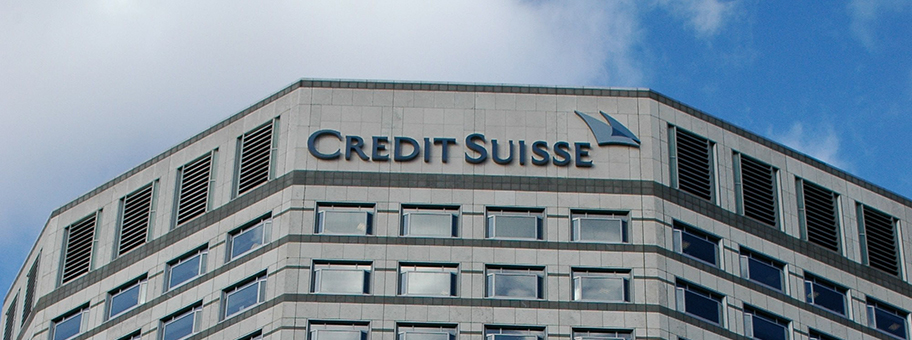 Credit Suisse Gebäude in London.