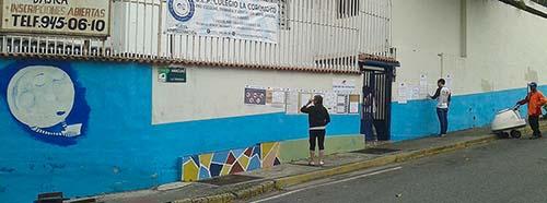 Wahllokal in Caracas, Veuezuela.