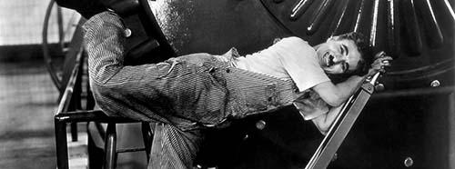 Charlie Chaplin im Film «Modern Times».United Artists