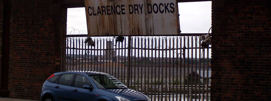 Clarence Dry Docks in Liverpool.