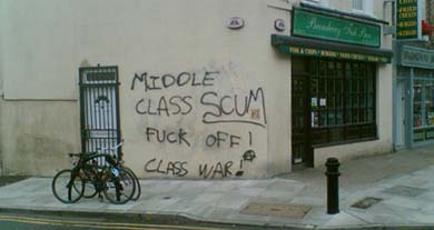 Working Class Graffiti in Manchester, England.