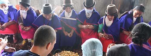 Indigenas in der Region Cauca, Kolumbien, Oktober 2017.