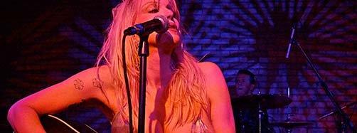 Courtney Love an einem Konzert im Dream Downtown von Manhattan, New York.