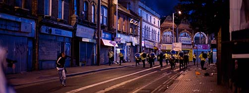 Croydon Riot 2011 in London.