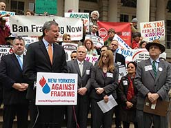 Fracking Protest in New York.