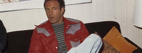 James Caan, hier in Holland 1976, verkörpert im USFilm «Rollerball» die Person von Jonathan E., einem der besten Spieler vom Team Houston.
