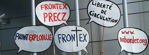 Shut Down FRONTEX Demonstration 2008 in Warschau.