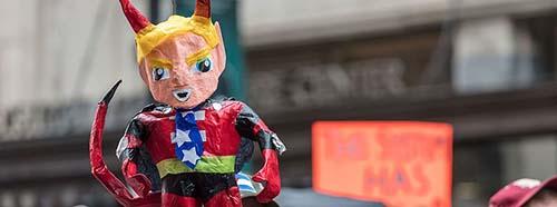 Donald Trump als Teufel, Januar 2017.