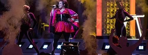 Netta Barzilai am Eurovision Song Contest 2018 in Lissabon.