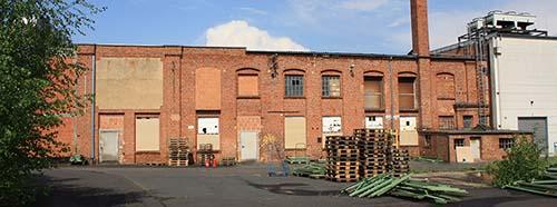 Produktionshalle der ehemaligen EikaWachsfabriken.