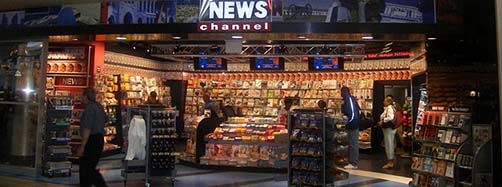 Zeitschriftenkiosk von Fox News am MinneapolisSaint Paul International Airport.