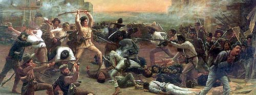 The Fall of the Alamo» oder «Crockett's Last Stand», von Robert Jenkins Onderdonk.