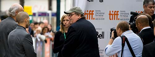 Michael Moore am Toronto Film Festival, 2009.
