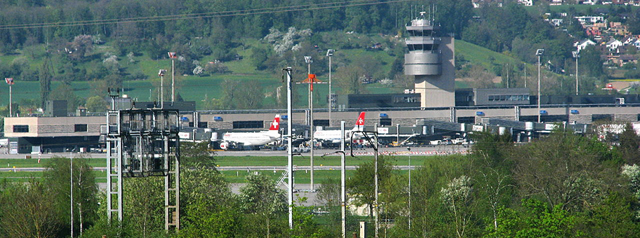 Der Zürich International Airport in Kloten.