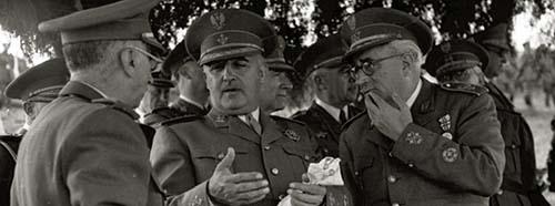 Der spanische Diktator Francisco Franco, 1946.