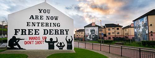 Free Derry Corner in Nordirland.