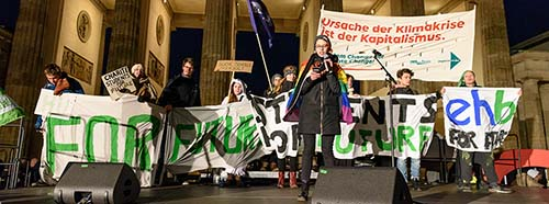 FridaysForFuture Demonstration in Berlin, November 2019.