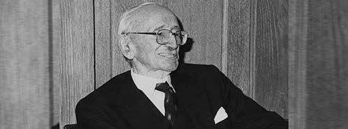 Friedrich August von Hayek, Urvater der neoliberalen Wirtschaftspolitik (Vertreter der Österreichischen Schule).