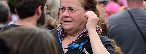 Jutta Ditfurth bei der G7Gegendemo in GarmischPartenkirchen am 6.