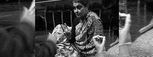 Gayatri Chakravorty Spivak am Goldsmiths College an der Universität von London, 2007.