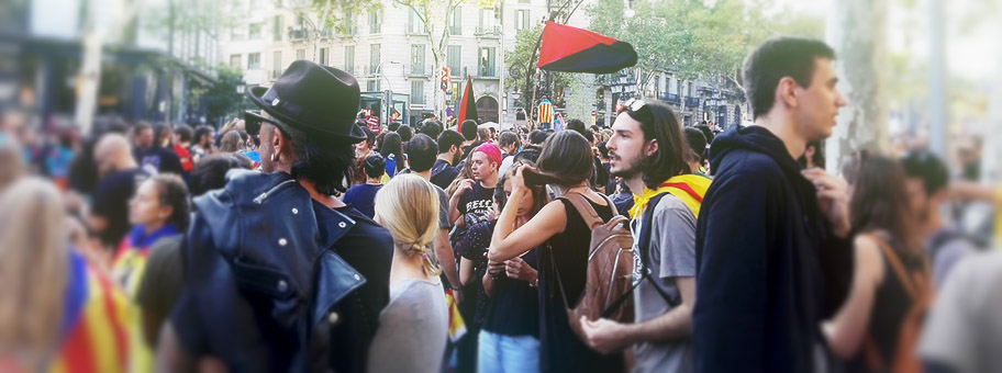 Generalstreik in Barcelona am 3.