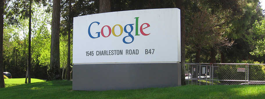 GoogleSchild im Silicon Valley.